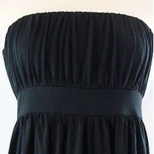 2/$39: BR strapless black silk dress
